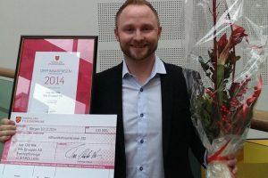 Ivar Ole Wik, vinner av oppfinnarprisen 2014