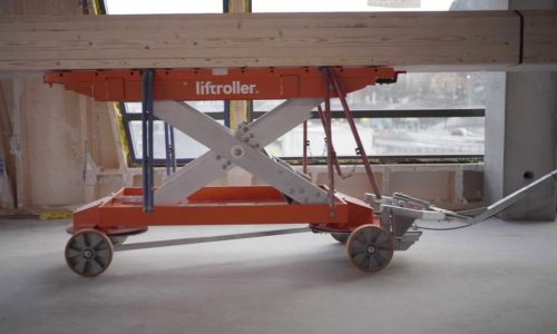 Byggemateriell på Liftroller Wagon