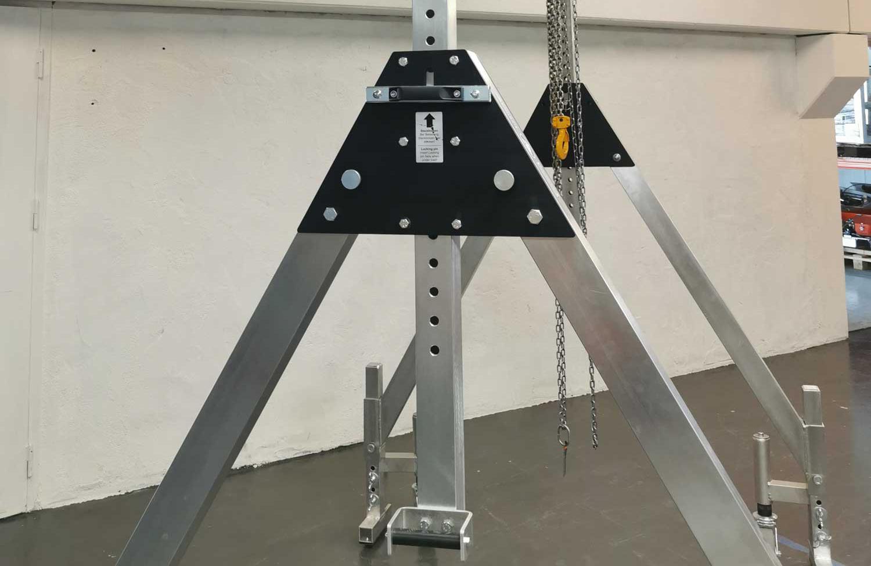 Liftroller Crane nærbilde av høydejustering på kran